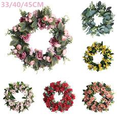 ornamental, Door, Garland, Valentines Day