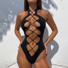 Fashion, women beachwear, sexy swimsuit, onepiece