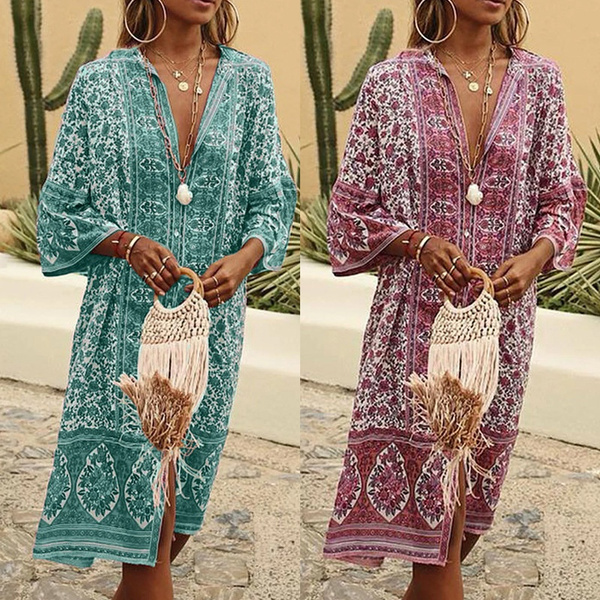 Summer, woman fashion, Floral print, Sleeve