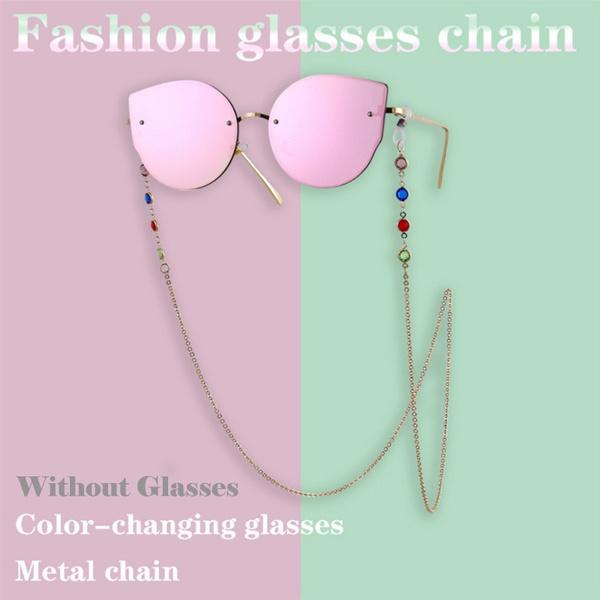 maskropechain, colorfulrhinestone, Jewelry, Chain