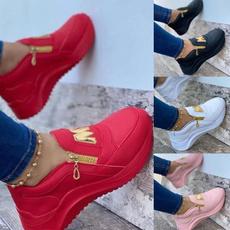 casual shoes, decoration, Sneakers, platformheel
