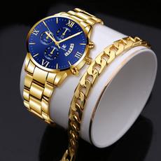 Chronograph, quartz, wristwatch, Stainless Steel