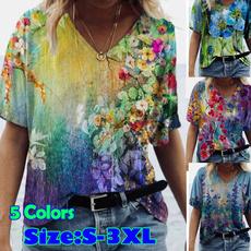 blouse, sleeve v-neck, blouse women, Shirt