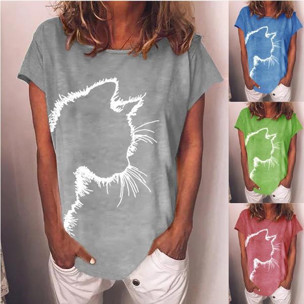 Summer, Plus size top, summer t-shirts, casual shirt