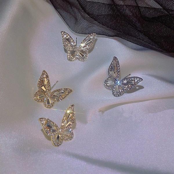 butterfly, Sterling, Bling, Jewelry