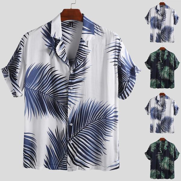 Summer, Hawaiian, vacationwear, short sleeves