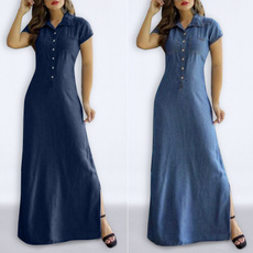 Blues, Fashion, Summer, plus size dress