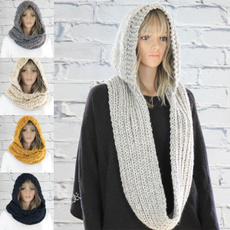 hooded, Winter, winter scarf, knitted