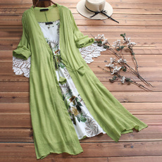 Summer, Floral print, Lace, Sleeve