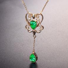 18k gold, Jewelry, gold, baroquependant