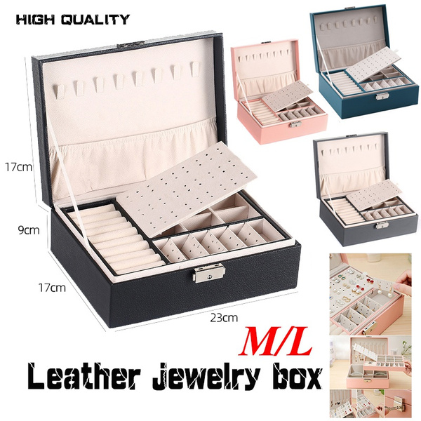 Box, doublelayerstoragebox, velvet, Jewelry