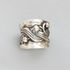 Sterling, wedding ring, 925 silver rings, Nature