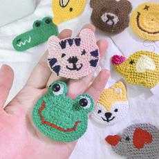 cartoonhairpin, animalhairclipper, Knitting, Hair Clip