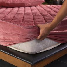 King, velvet, quilted, bedfittedsheet