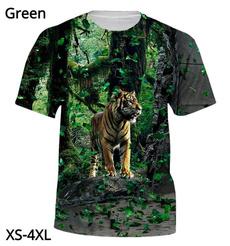 Summer, fashion women, Shorts, animal3dtigertshirt