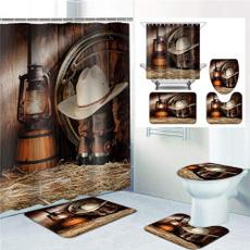 Home Decor, nonslipmat, Waterproof, showercurtainset