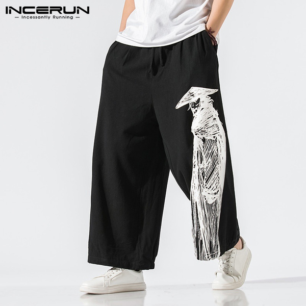 trousers, Cotton, Waist, Chinese