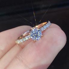 DIAMOND, wedding ring, 925 silver rings, Wedding