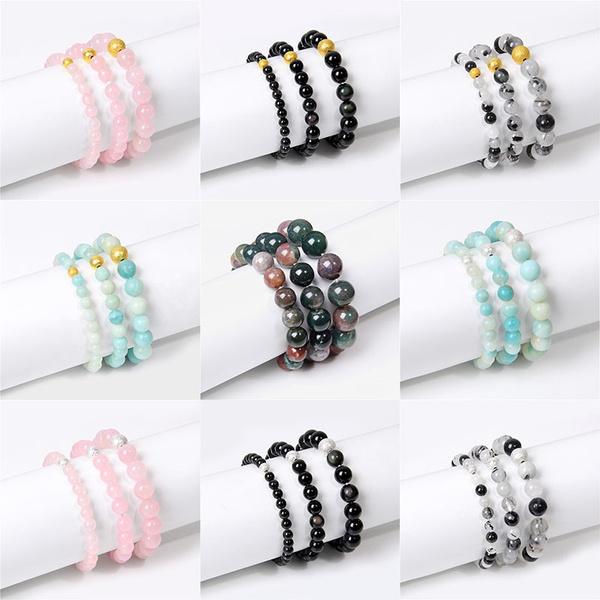 Charm Bracelet, quartz, roundbeadsbracelet, Elastic