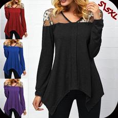 Fashion, Lace, Long Sleeve, Shirt