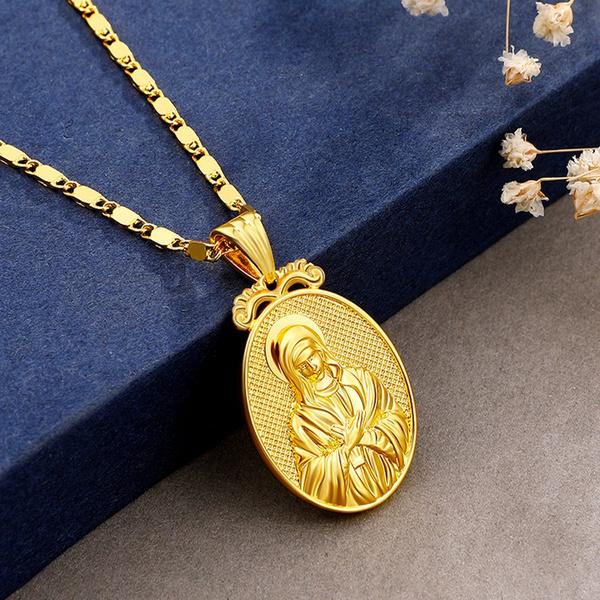 virginmarynecklace, medalnecklace, Fashion, Jewelry