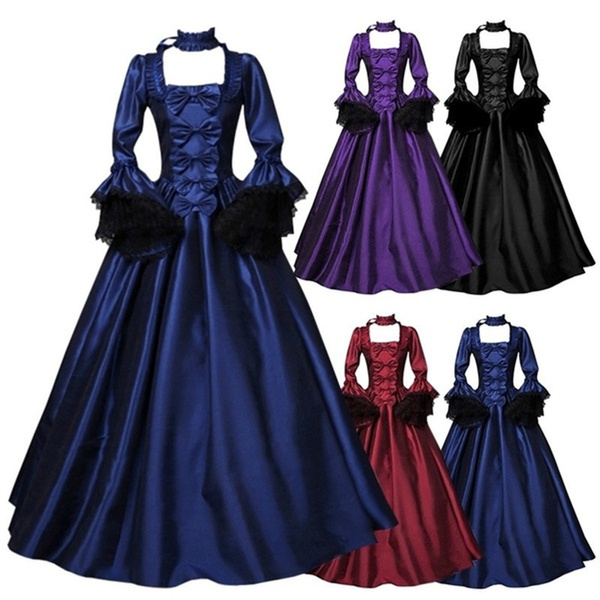 Goth, Medieval, long dress, Cosplay Costume