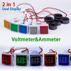 amperecurrentmeter, voltagegauge, led, lights