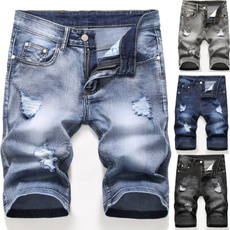 men jeans, Plus Size, Summer, Shorts