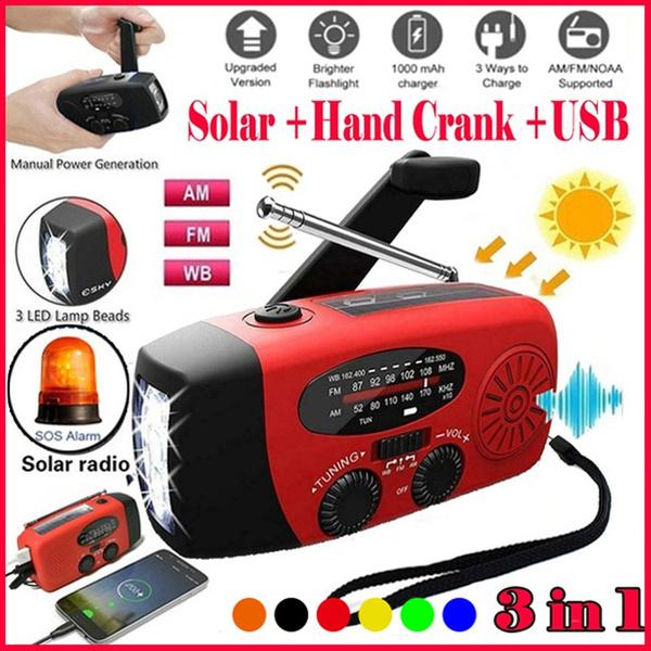 Flashlight, emergencyradio, led, crankradio
