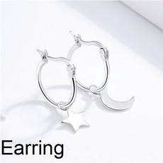 starmoon, Star, Jewelry, earringsforgirl