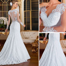 gowns, Bridal, Encaje, Long Sleeve