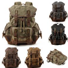 vintage backpack, Canvas, Hiking, backpacksformenwaterproof