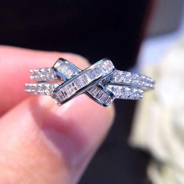 Sterling, DIAMOND, wedding ring, whitegemring