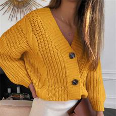 cardigan, Long Sleeve, Sweaters, fashionpullfemmecoat