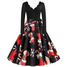 Plus Size, Long Sleeve, big, Dress