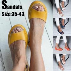 Summer, breathablehikingshoe, Women Sandals, breathableleathershoesforwomen