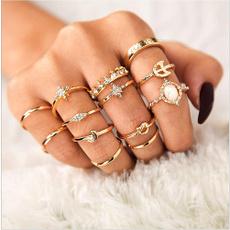 Women, DIAMOND, wedding ring, 925 silver rings