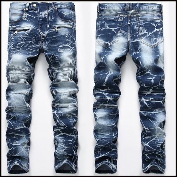 men jeans, Plus Size, Elastic, pants