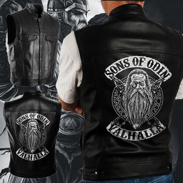 Vest, vikingvest, motorcyclevest, leather