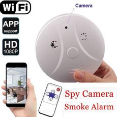 Mini, hiddencameravideorecorder, Remote, smokealarmcamera