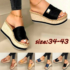 Sandals & Flip Flops, Slip-On, thicksole, wedge