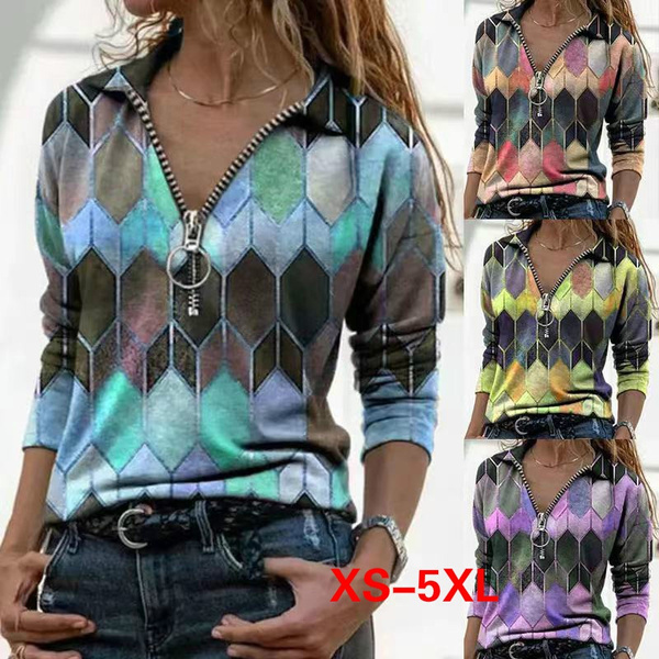 Plus Size, Long Sleeve, Spring, womens top