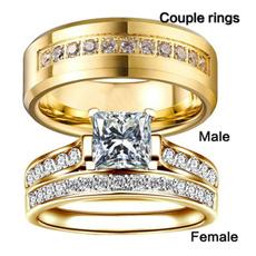 Sterling, Vintage, DIAMOND, wedding ring