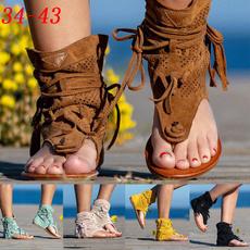 Summer, Tassels, Plus Size, flatsandal