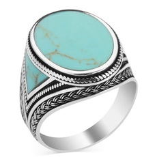 Turquoise, Jewelry, Chain, Silver Ring