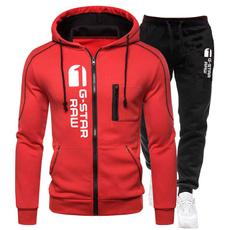 sportswearmen, Outdoor, zipperhoodiesmen, joggingsuitset