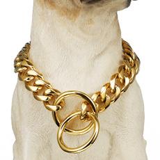 Heavy, Medium, Chain, metaldogcollar