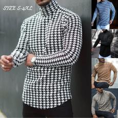 Fashion, men's cotton T-shirt, Sleeve, Long Sleeve
