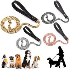 rosegolddogleash, blackdogleash, Chain, golddogleash