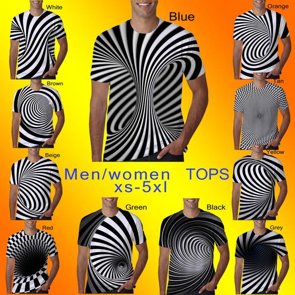 trending, opticalillusiontshirt, Shirt, Black And White